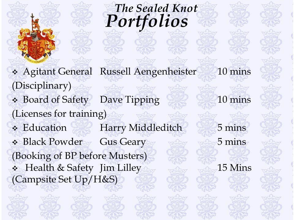 Portfolios Agitant General Russell Aengenheister 10 mins