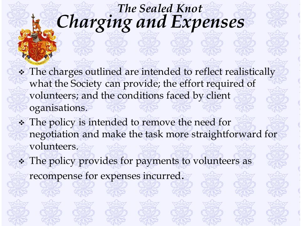 Charging and Expenses