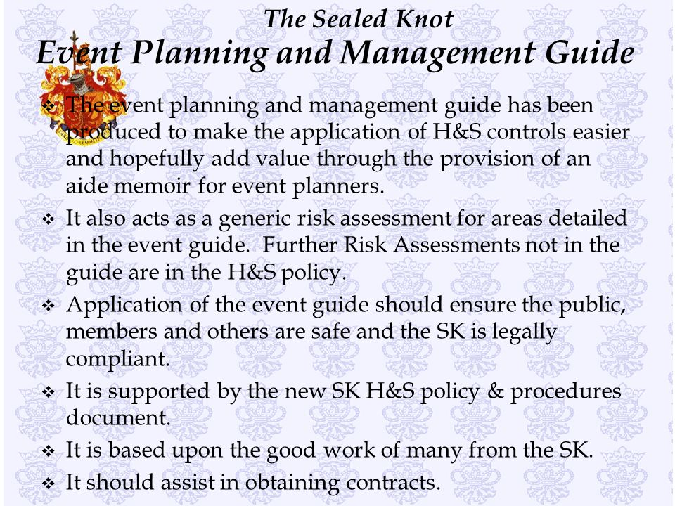 Event Planning and Management Guide