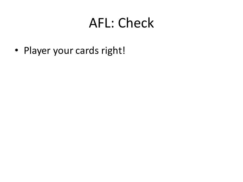 AFL: Check Player your cards right!