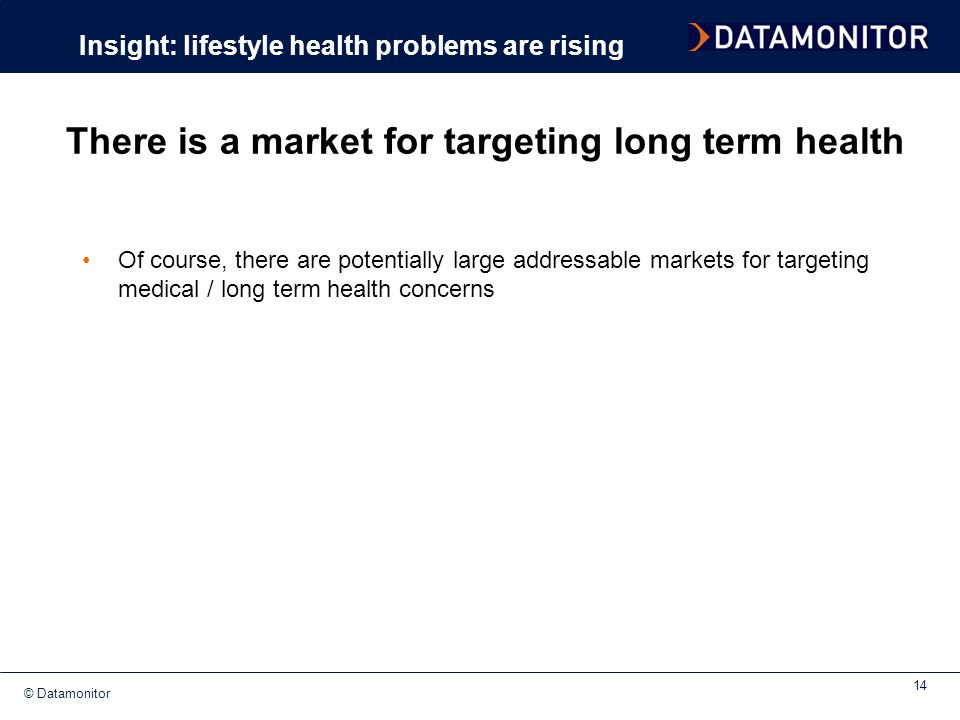 There is a market for targeting long term health