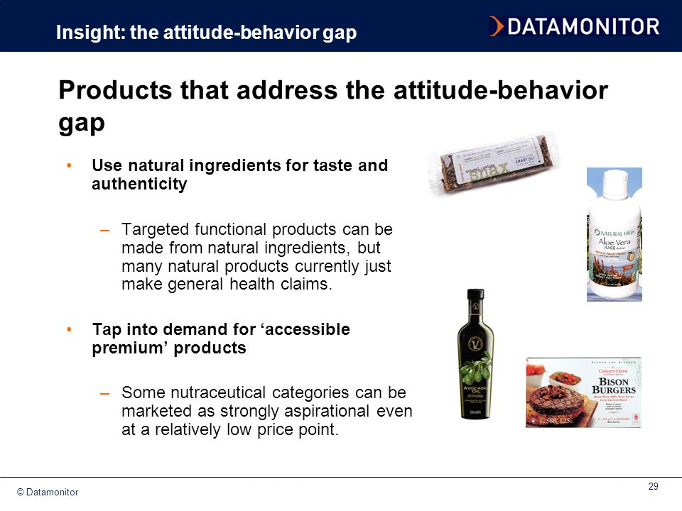 Products that address the attitude-behavior gap