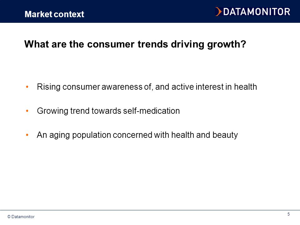 What are the consumer trends driving growth