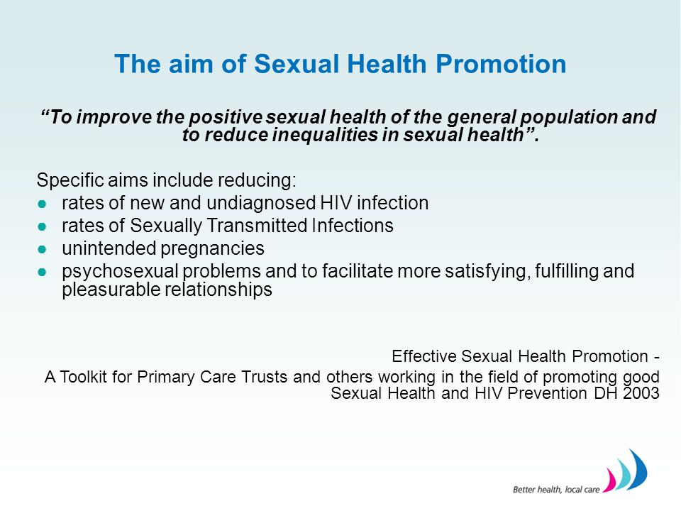 The aim of Sexual Health Promotion