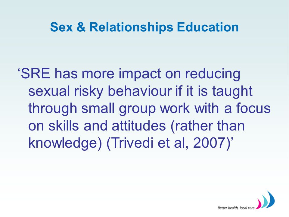 Sex & Relationships Education