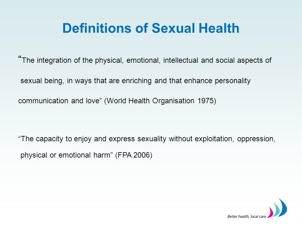 Definitions of Sexual Health