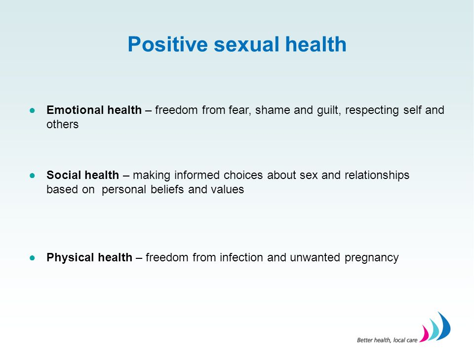 Positive sexual health