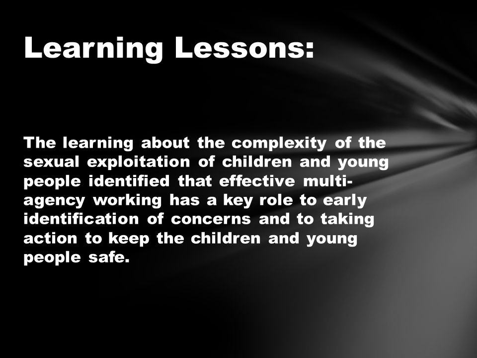 Learning Lessons: