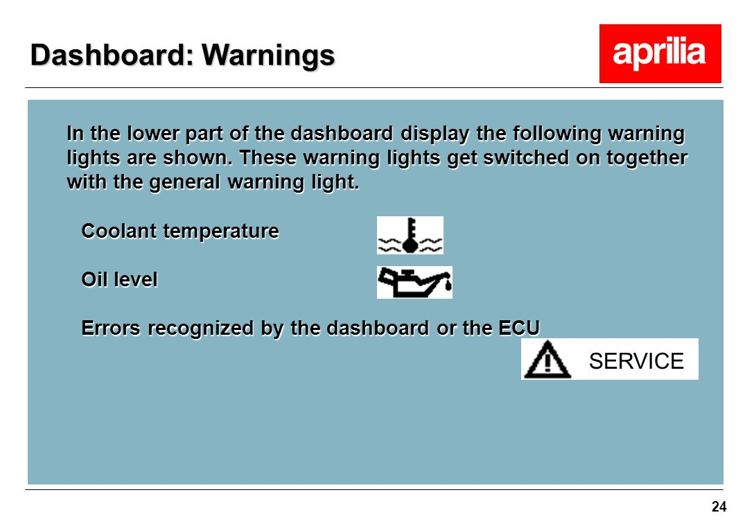 Dashboard: Warnings SERVICE
