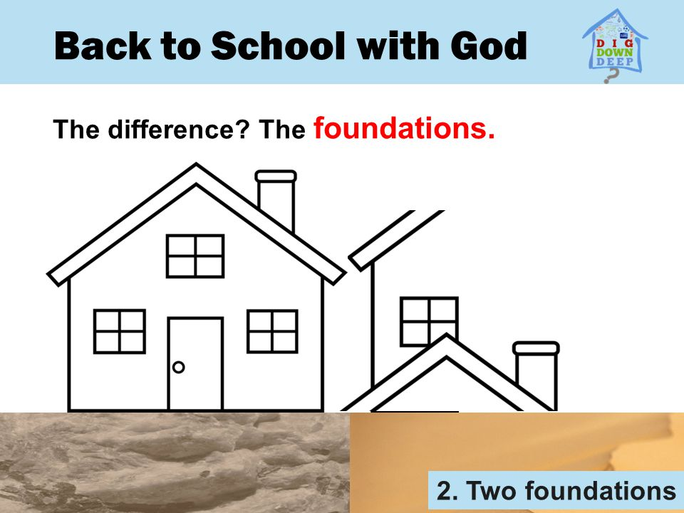 Back to School with God The difference The foundations.