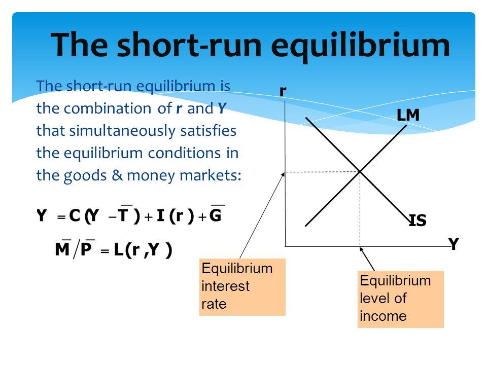 The short-run equilibrium