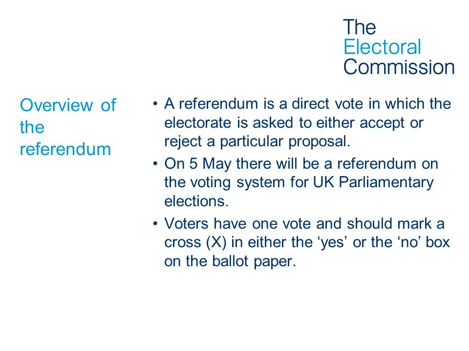 Overview of the referendum