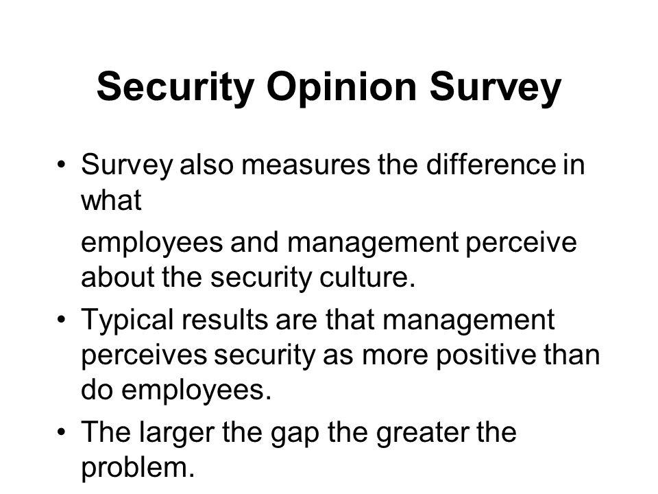 Security Opinion Survey