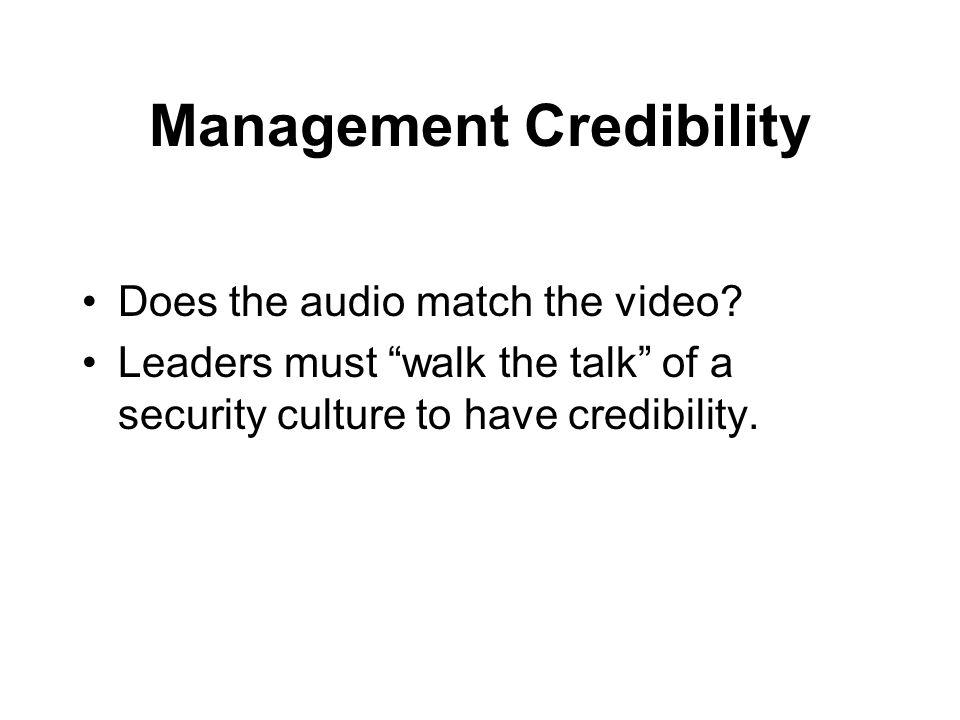 Management Credibility