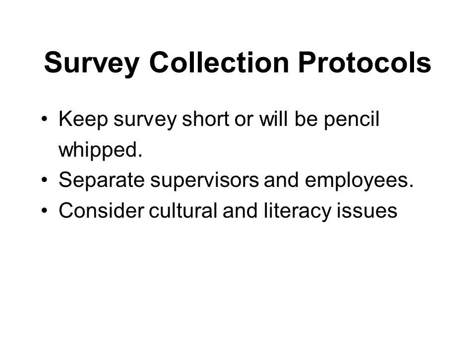 Survey Collection Protocols