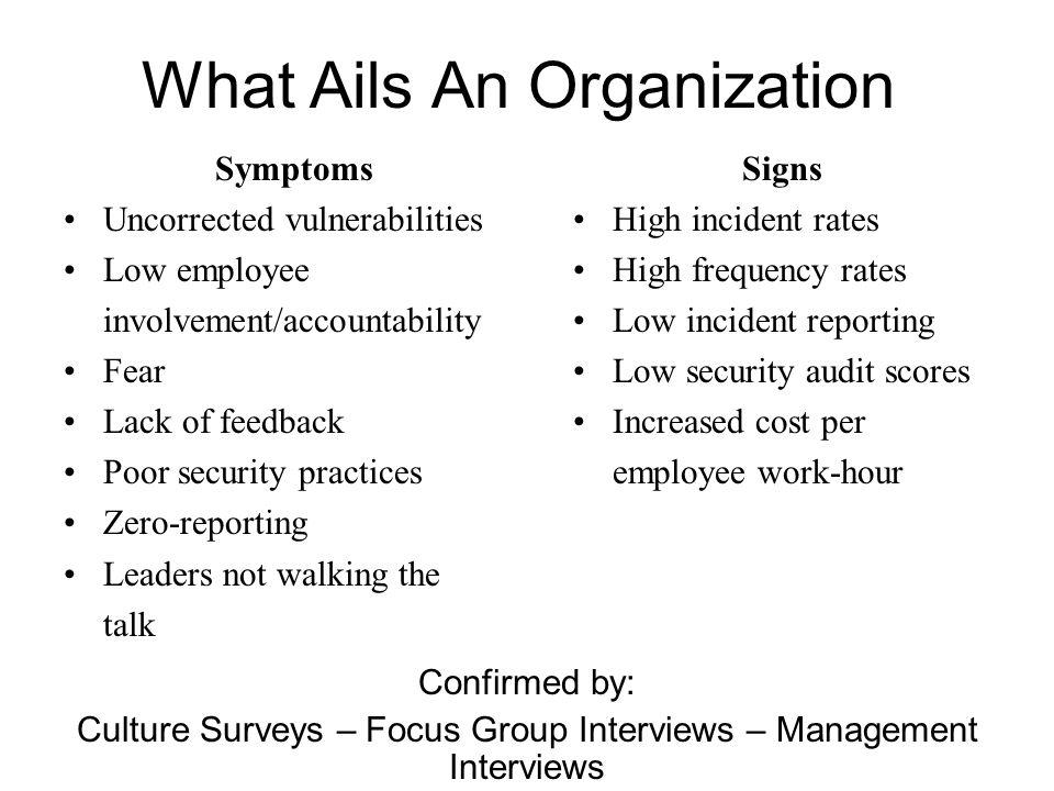 What Ails An Organization