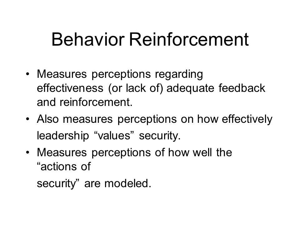 Behavior Reinforcement