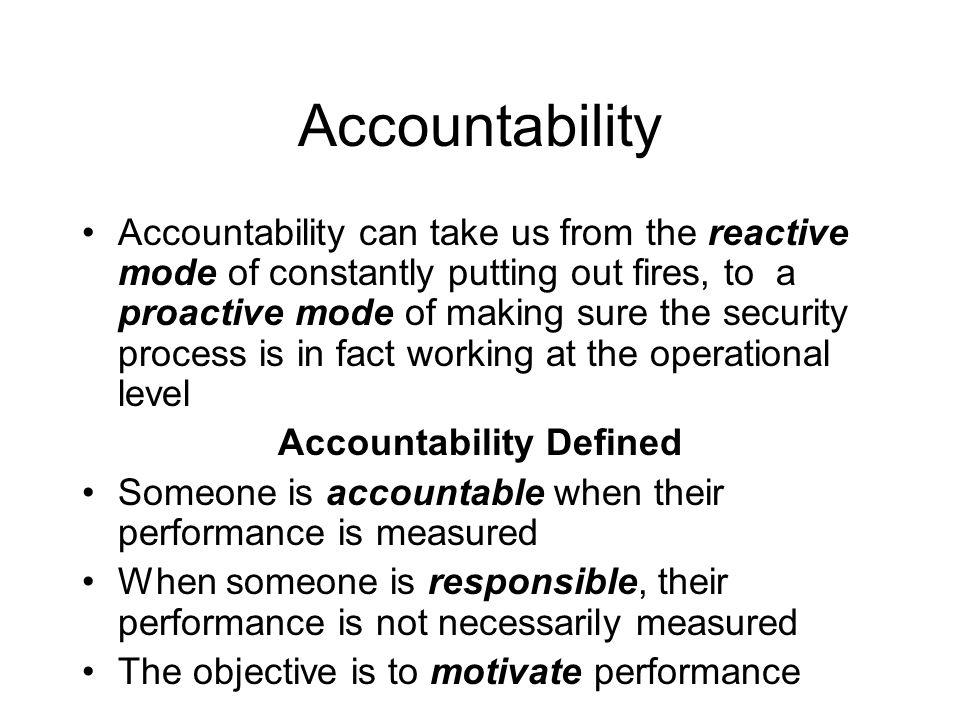 Accountability Defined