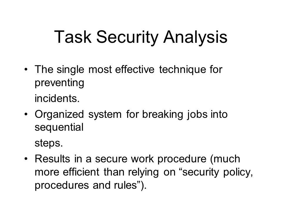 Task Security Analysis