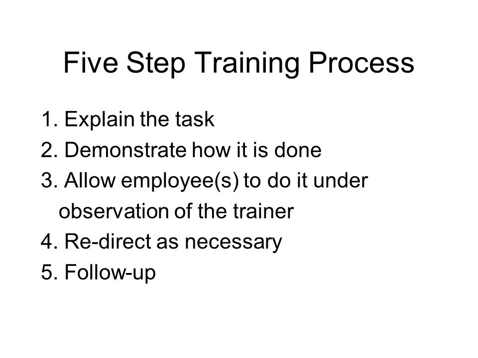 Five Step Training Process