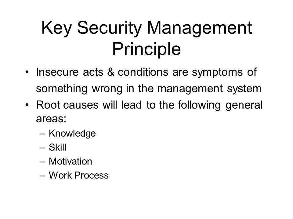 Key Security Management Principle