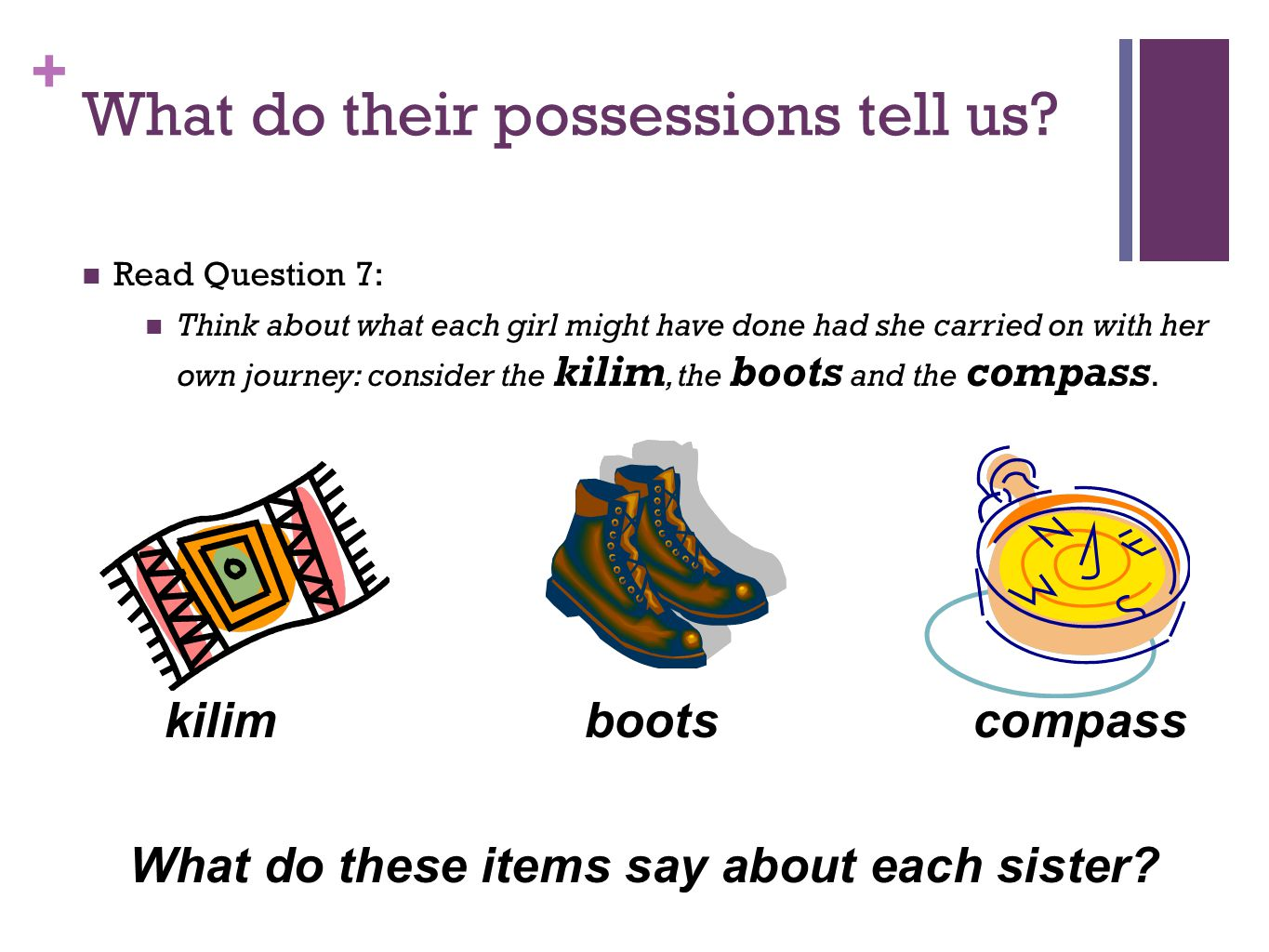 What do their possessions tell us