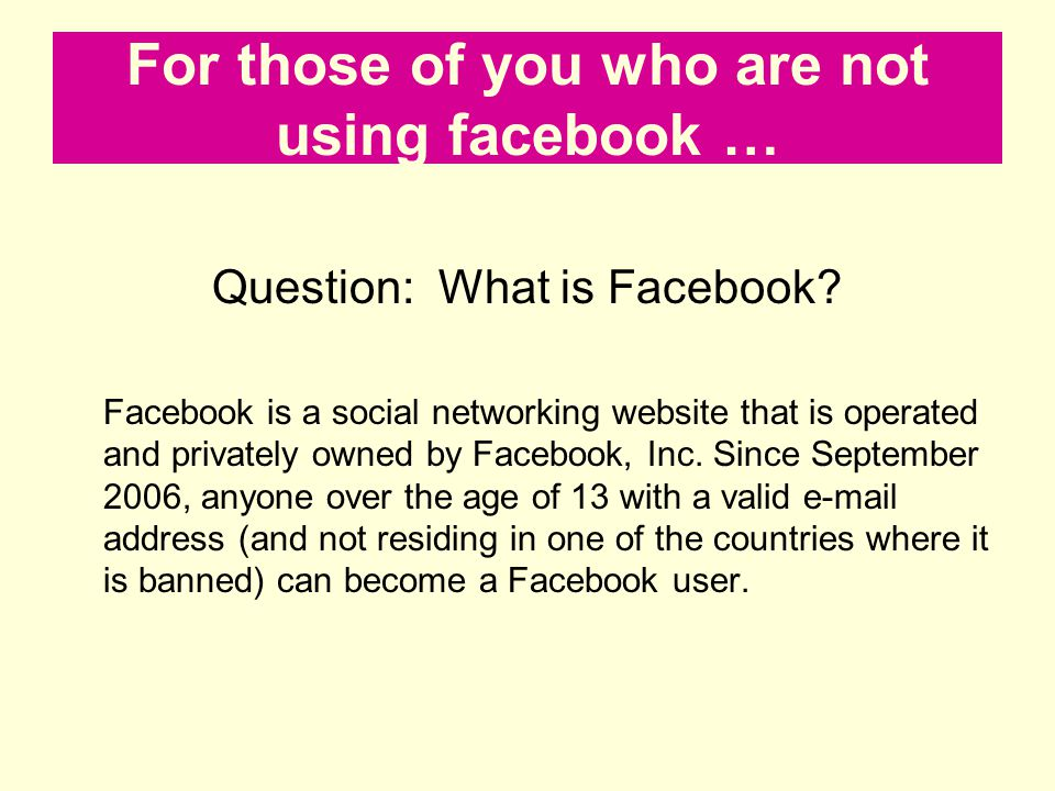 For those of you who are not using facebook …