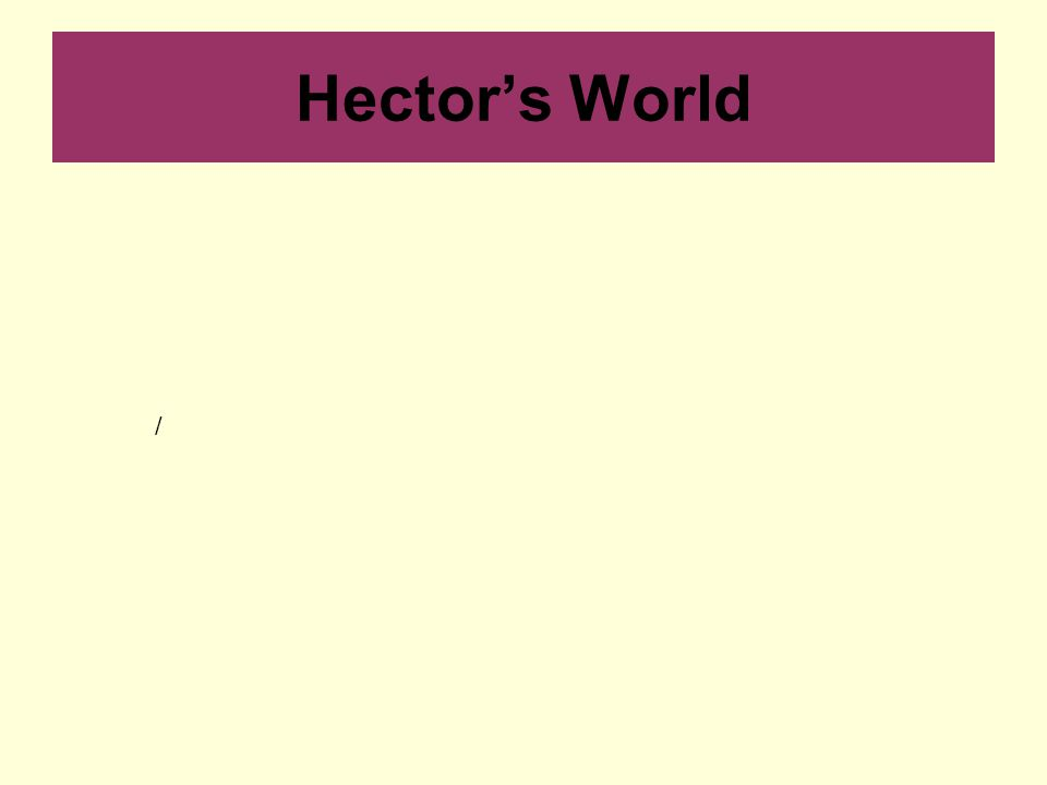 Hector's World /