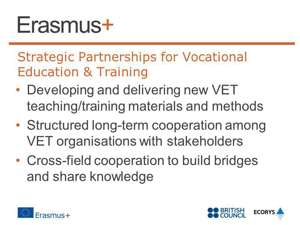 Strategic Partnerships for Vocational Education & Training