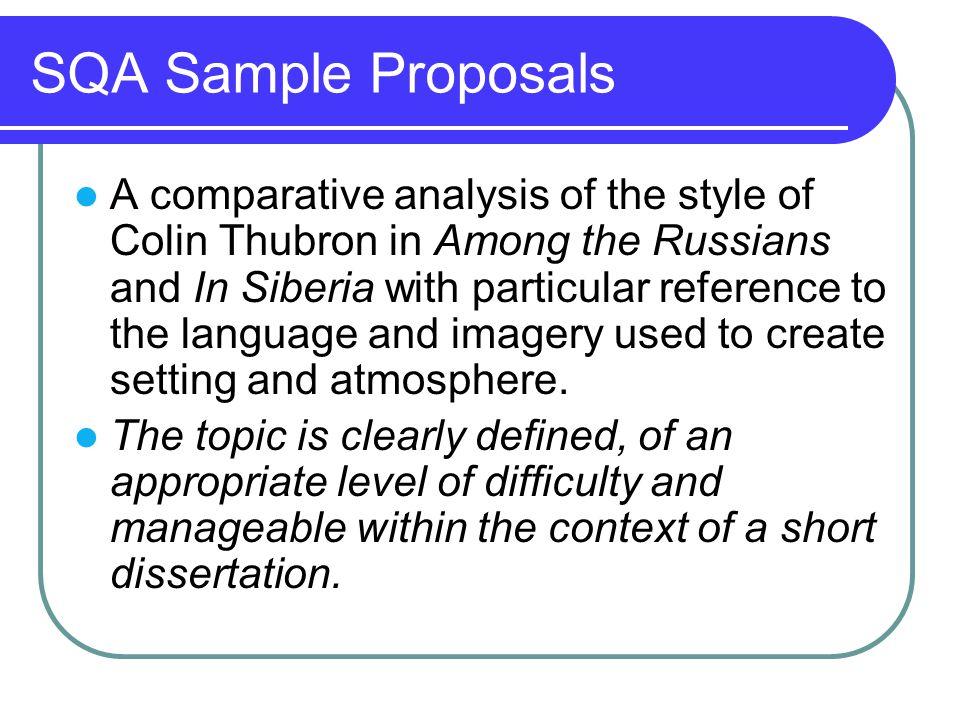 SQA Sample Proposals