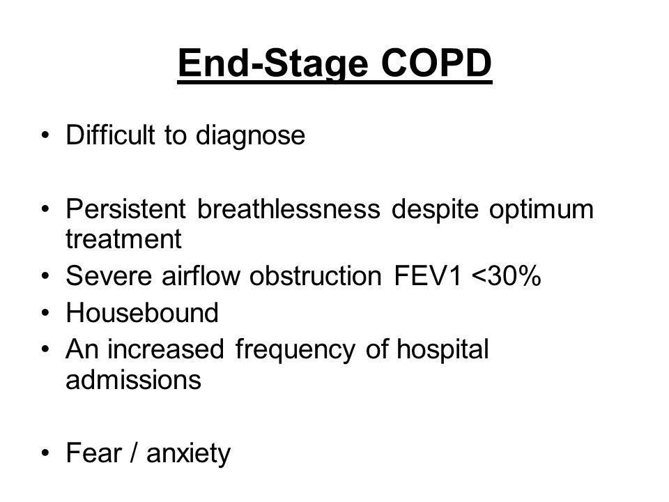 End-Stage COPD Difficult to diagnose