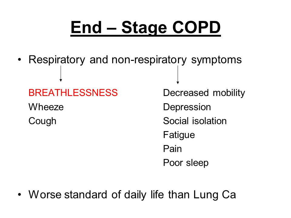 End – Stage COPD Respiratory and non-respiratory symptoms