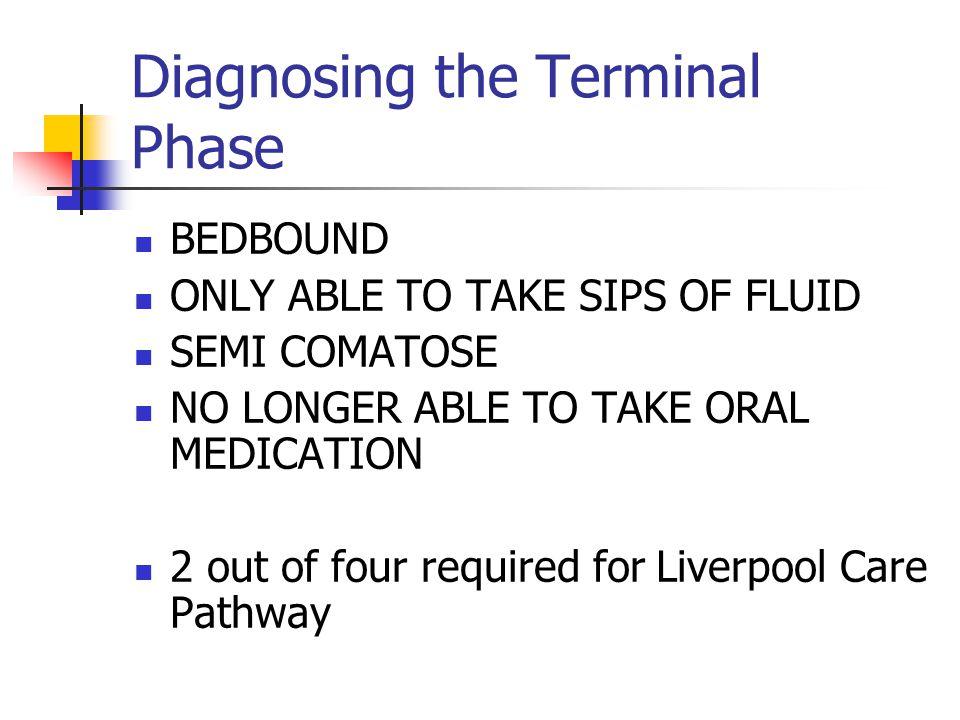 Diagnosing the Terminal Phase