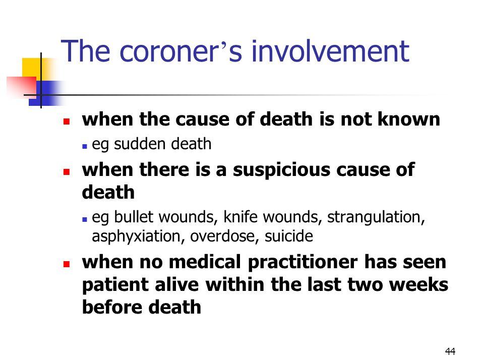 The coroner's involvement