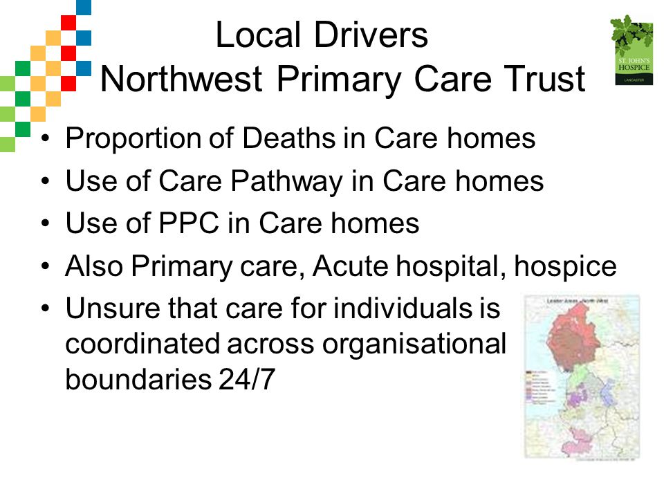 Local Drivers Northwest Primary Care Trust