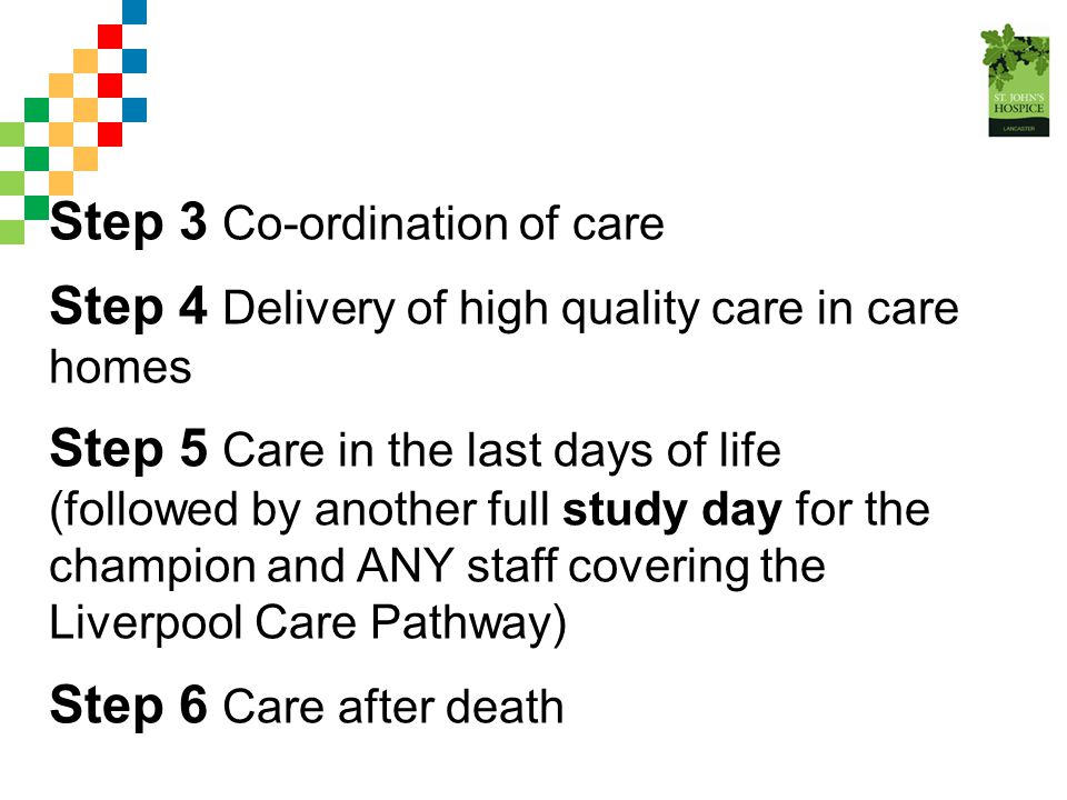 Step 3 Co-ordination of care