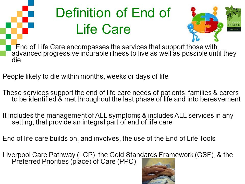 Definition of End of Life Care