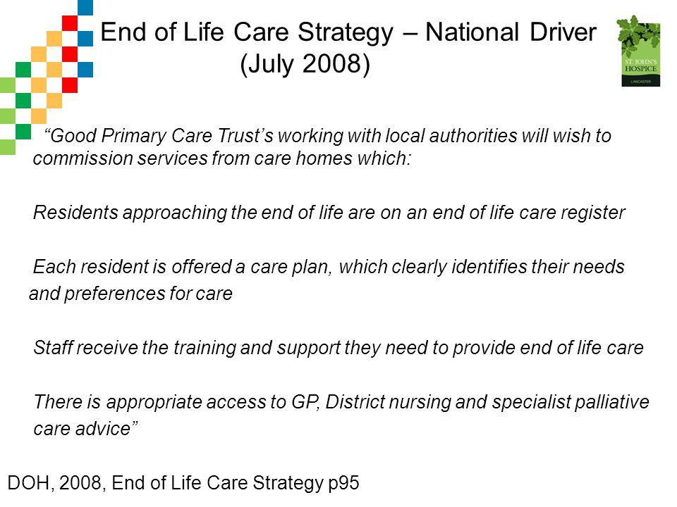End of Life Care Strategy – National Driver (July 2008)