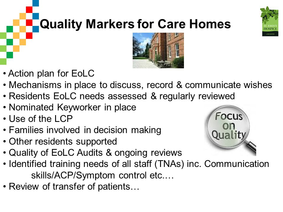 Quality Markers for Care Homes