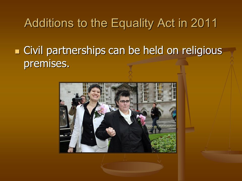 Additions to the Equality Act in 2011