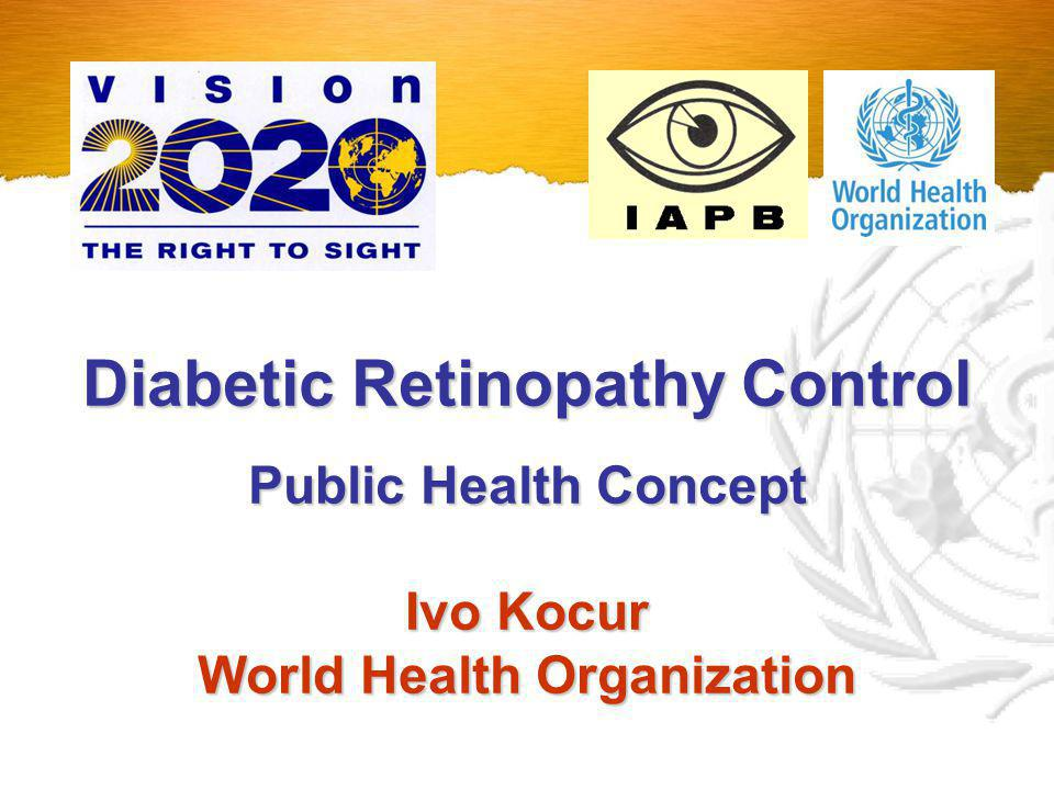 Diabetic Retinopathy Control World Health Organization