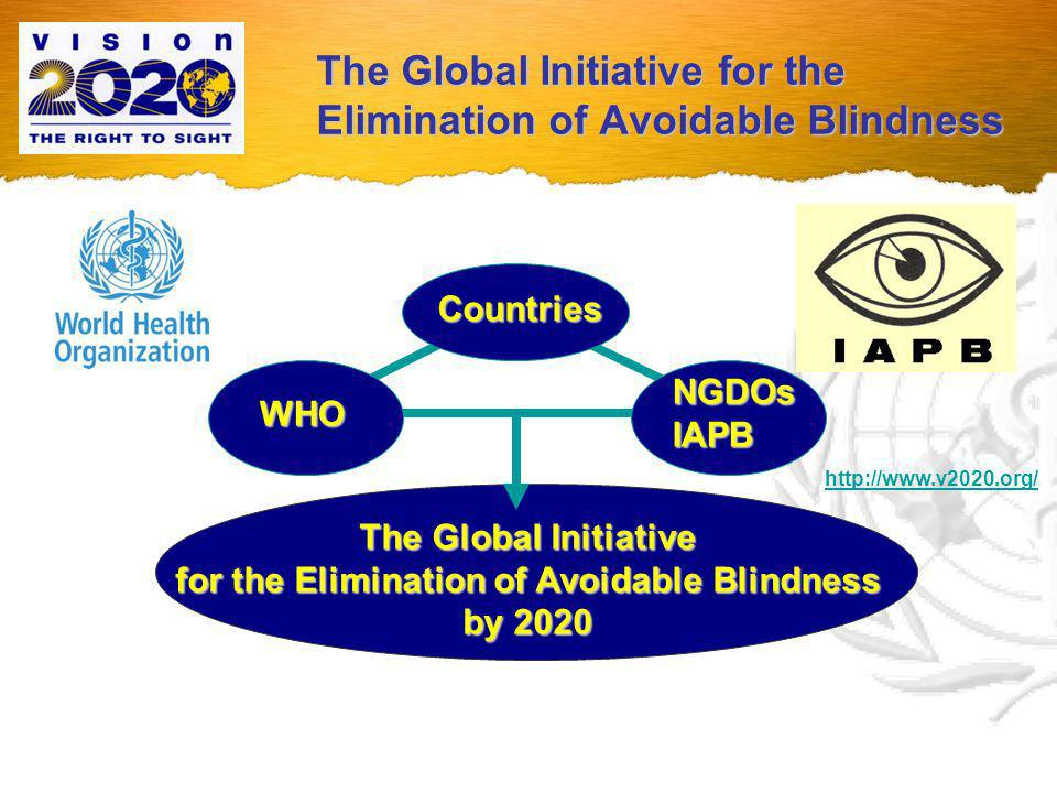 The Global Initiative for the Elimination of Avoidable Blindness