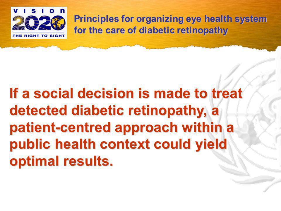 Principles for organizing eye health system for the care of diabetic retinopathy