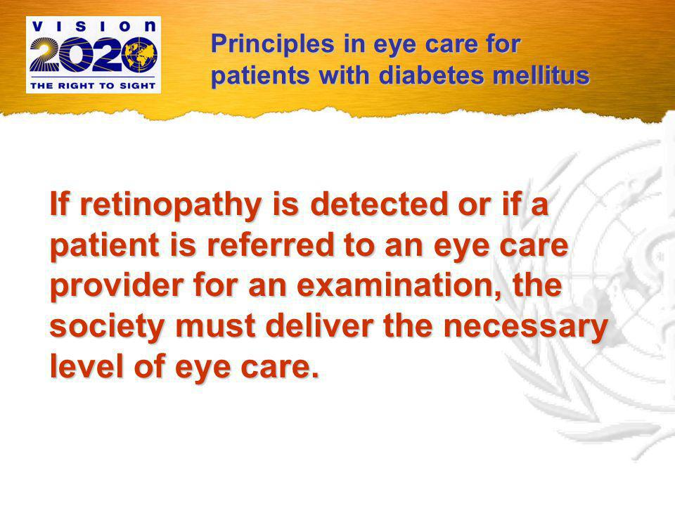 Principles in eye care for patients with diabetes mellitus