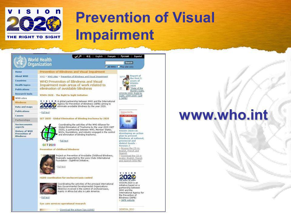 Prevention of Visual Impairment