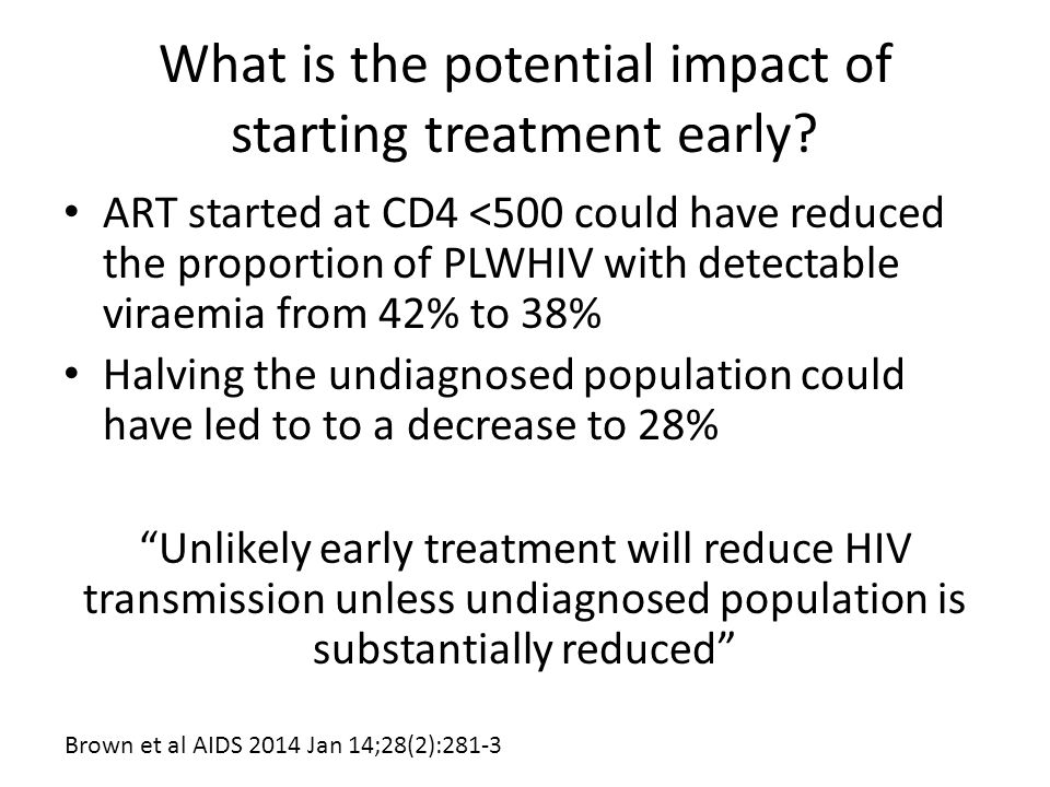 What is the potential impact of starting treatment early