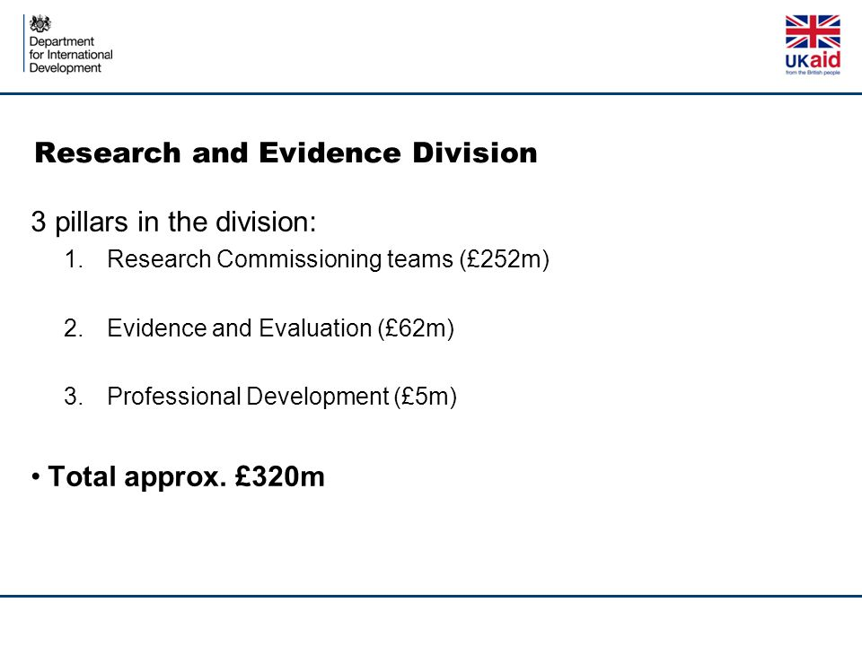 Research and Evidence Division