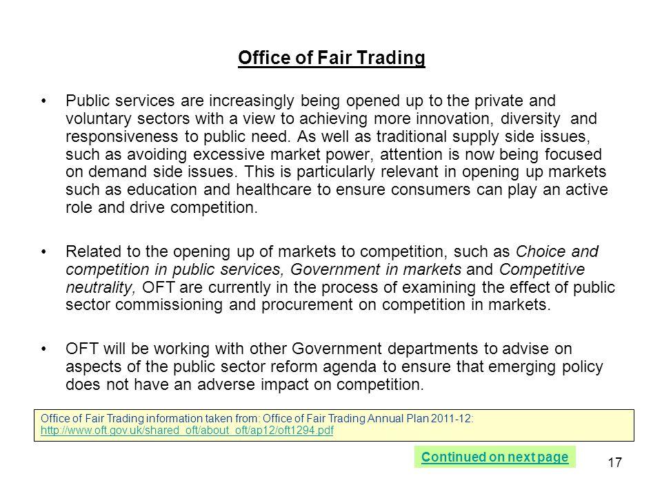 Office of Fair Trading