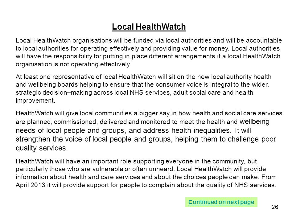 Local HealthWatch