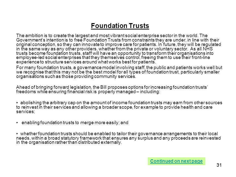 Foundation Trusts